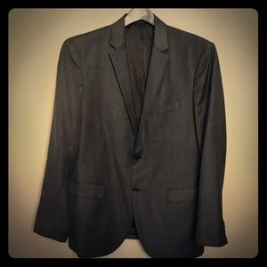 Theory charcoal gray suit 46R pants 38rx30